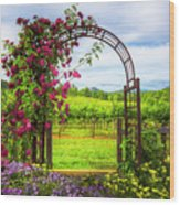 The Garden At The Winery Wood Print