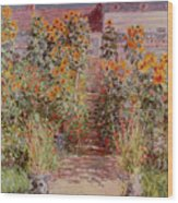 The Garden At Vetheuil Wood Print