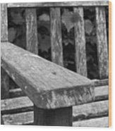 The Garden Bench Wood Print