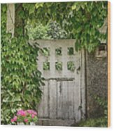 The Garden Door - V Wood Print