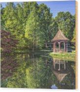 The Garden Gazebo Wood Print