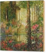 The Garden Of Enchantment Wood Print