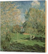 The Garden Of Hoschede Family Wood Print