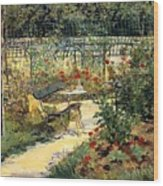 The Garden Of Manet Wood Print