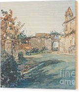 The Garden Of San Miniato Near Florence Wood Print