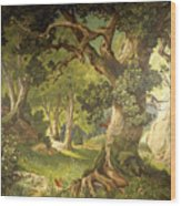 The Garden Of The Magician Klingsor, From The Parzival Cycle, Great Music Room Wood Print