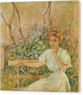 The Garden Seat 1911 Wood Print