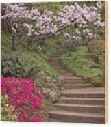 The Garden Steps Wood Print