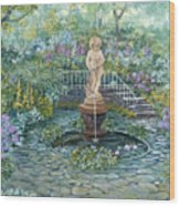 The Garden Triptych Middle Painting Wood Print