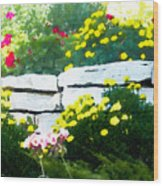 The Garden Wall Wood Print