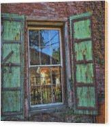 The Garden Window Wood Print