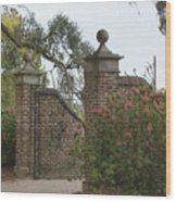 The Gate At Boone Hall Wood Print
