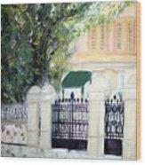 The Gatehouse At Villa Mariposa Wood Print