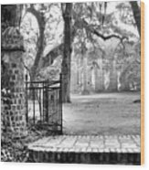 The Gates Of The Old Sheldon Church Wood Print