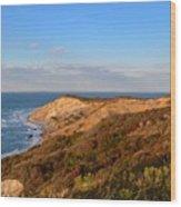 The Gay Head Cliffs In Autumn Wood Print
