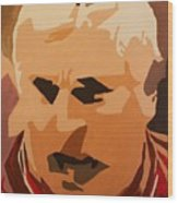 The General- Bobby Knight Wood Print by Steven Dopka