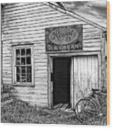The General Store Bw Wood Print