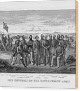 The Generals Of The Confederate Army Wood Print by War Is Hell Store