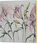 Gentle Flowers Wood Print