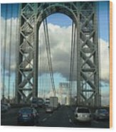 The George Washington Bridge  Wood Print