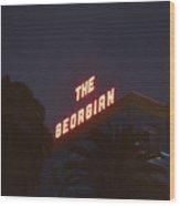 The Georgian At Night, Santa Monica, Ca Wood Print