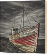 The Ghost Ship Wood Print