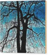 The Ghostly Tree Wood Print