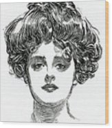 The Gibson Girl Wood Print