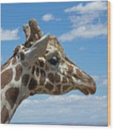 The Giraffe Wood Print