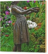 The Girl Among Orchids Wood Print