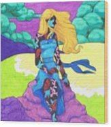 The Girl Series 03 - The Prettiest Girl Wood Print
