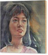 The Girl Wood Print