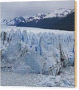 The Glacier Advances Wood Print