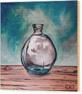 The Glass Bottle Wood Print