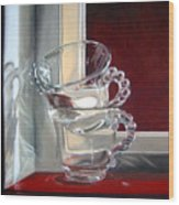 The Glass Cups Wood Print