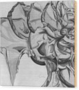 The Glass Rose Wood Print