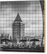 The Glass Windows Of The Market Hall In Rotterdam Wood Print