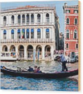 The Gliding Gondola Wood Print