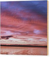 The Gloaming Of Lac Vieux Desert Wood Print