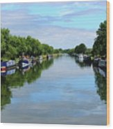 The Gloucester And Sharpness Canal Wood Print