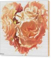 The Glow Of Roses Wood Print
