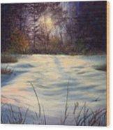 The Glow Of Winter Wood Print