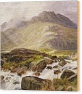 The Glyder Fawr  Wood Print