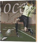 The Goalkeeper Wood Print