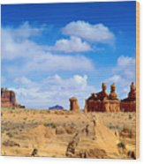 The Goblin Valley Wood Print