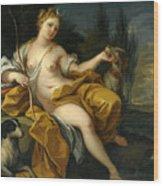 The Goddess Diana Wood Print