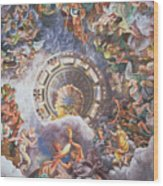 The Gods Of Olympus Wood Print by Giulio Romano