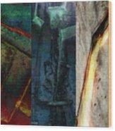 The Gods Triptych 1 Wood Print by Ken Walker