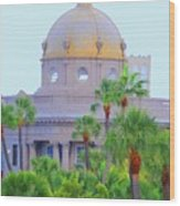 The Gold Dome Wood Print