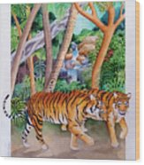 The Gold Of The Tigers Wood Print